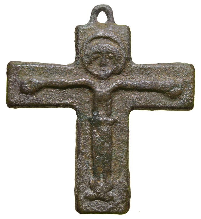 Crucifijo medieval - CC105  Q0kEY5