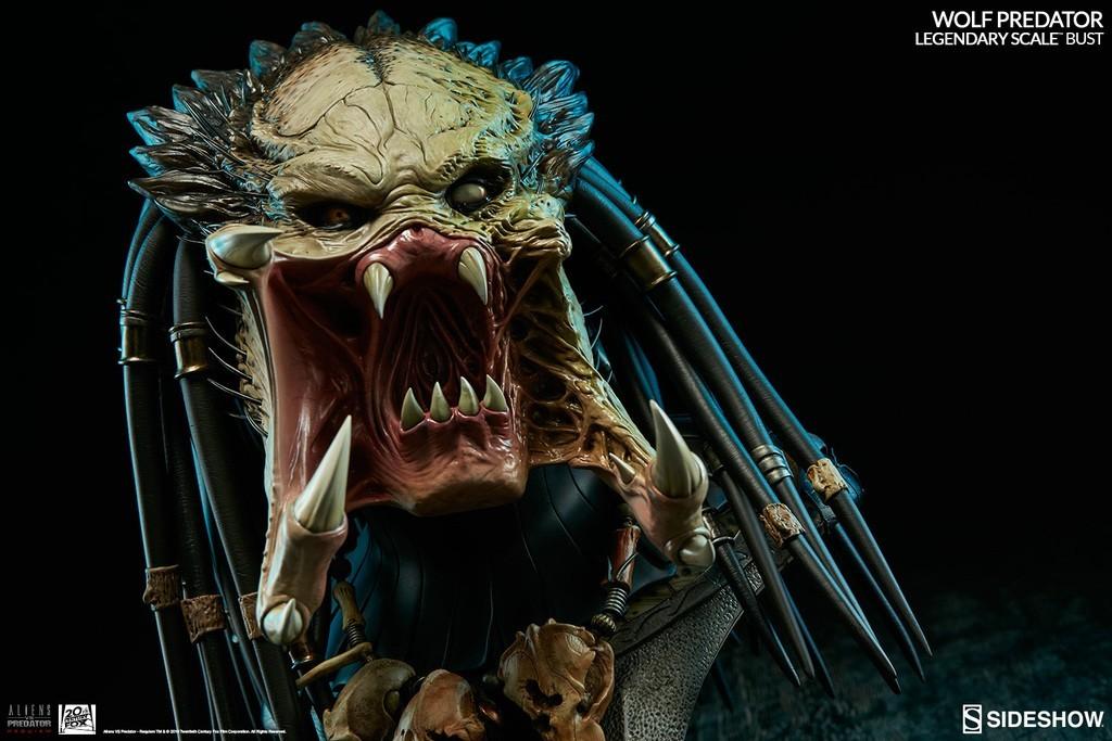 Alien vs Predator - Requiem : Wolf Predator Legendary Scale Bust SKb2SI