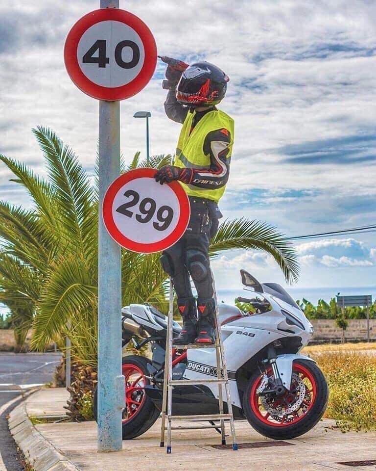 Une vitesse adaptée aux motards