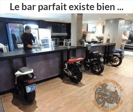 Le bar parfait pour les motards existe bien ...