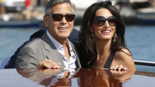 George e Amal Clooney neo genitori di Ella e Alexander