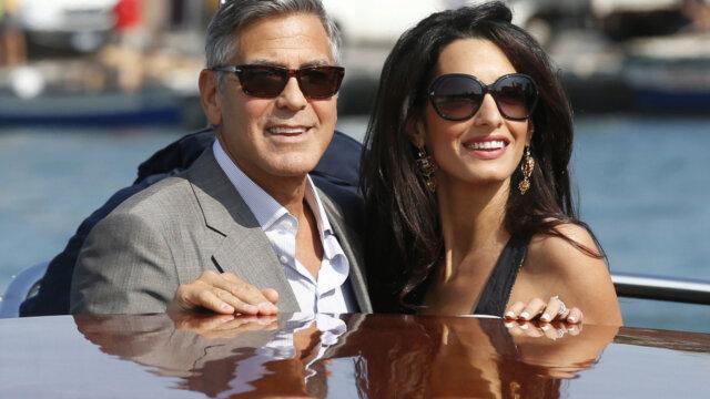 Main photo George e Amal Clooney neo genitori di Ella e Alexander
