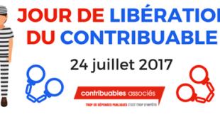 24 JUILLET : JOUR DE LIBÉRATION DU CONTRIBUABLE 2017