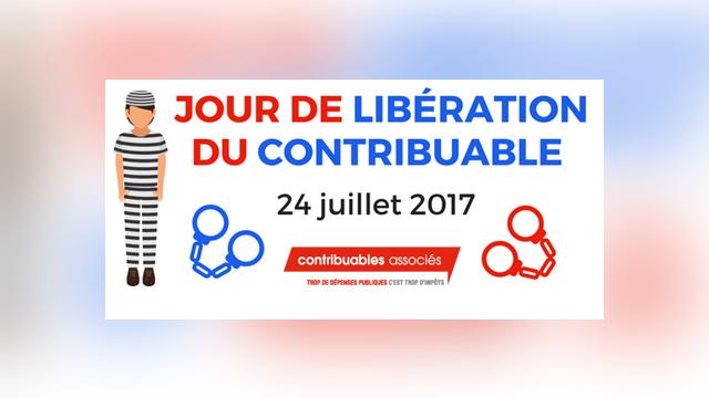Main photo 24 JUILLET : JOUR DE LIBÉRATION DU CONTRIBUABLE 2017