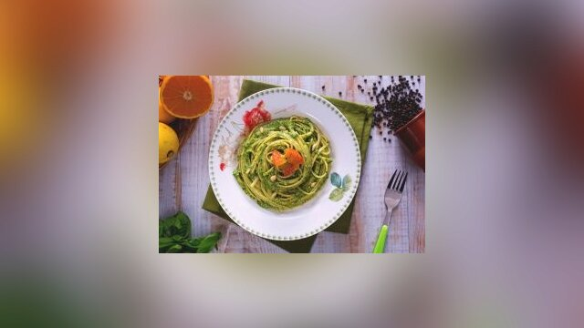 Linguine con il pesto
