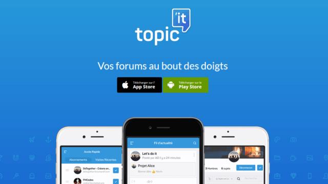 Main photo Découvrez Topic'it, l'application mobile de votre forum !