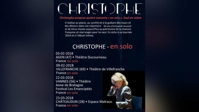 """CHRISTOPHE en tournée """"Les Vestiges du Chaos Tour"""""""