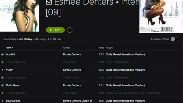 Credits•Unreleased: Esmee Denters • 'Outta Here' • Interscope • ☆☆☆☆/☆