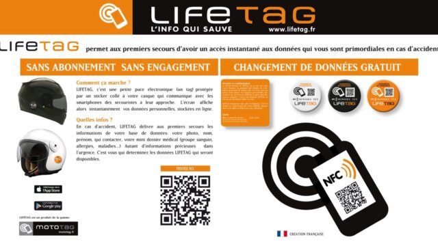 Main photo LIFETAG : la puce électronique NFC  et QR Code
