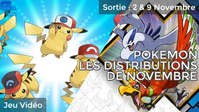 Pokémon : Les distributions de novembre !