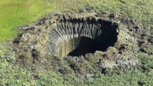 Gouffres béants en Sibérie