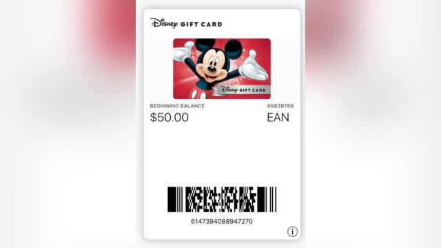 Recevoir gratuitement une carte-cadeau Disney !