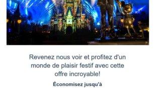 Comment recevoir des offres promotionnelles de Disney ?