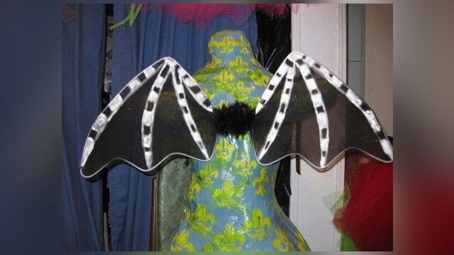 DIY  Bat Wings or Other wings made by wire hanger