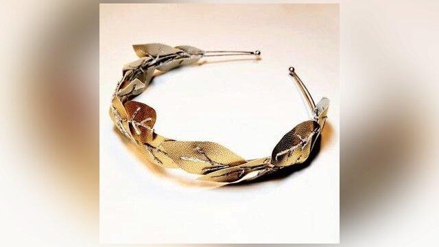 Golden Leaves Headband