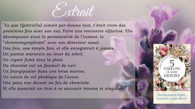Les 5 parfums de notre histoire de Laure Margerand
