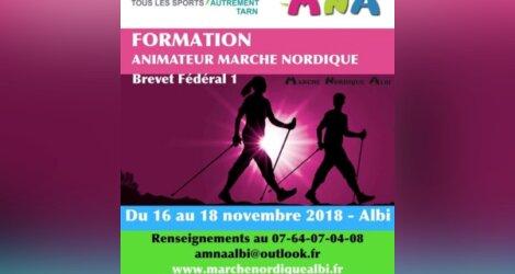 Formation animateur marche nordique du 16 au 18 novembre 2018 Albi-Tarn