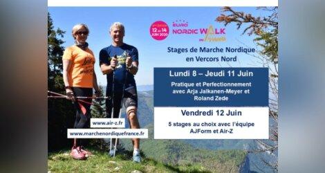 Stages Euronordicwalk Vercors 2020 avec Arja et Roland