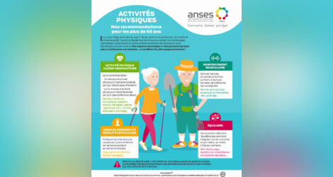 Activités Physiques : Recommandations + 65 ans par ANSES